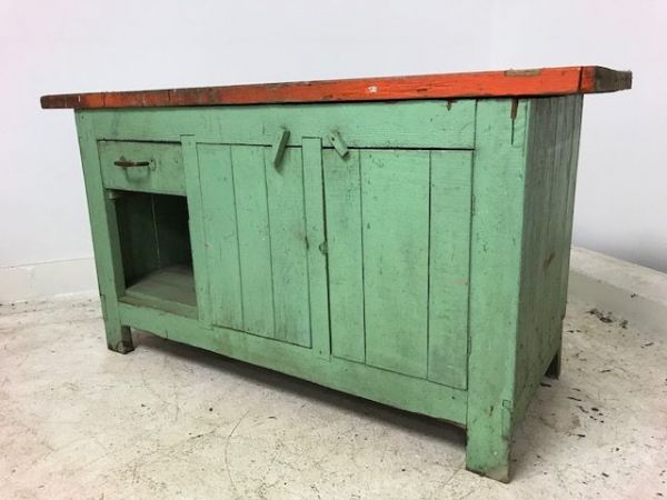 Rustic French Work Bench -  Just In - b36